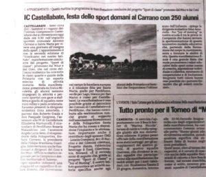 """Festa dello sport al Carrano con 250 alunni di """"Sport di classe"""""""